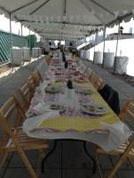 Shabby Chic Tablescape at Brooklyn Grange Farm