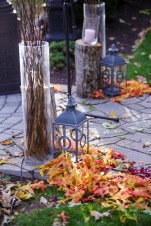 Poconos Fall Wedding Ceremony Set up