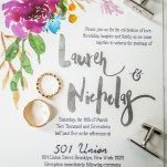 Invitation to Wedding at 501 Union