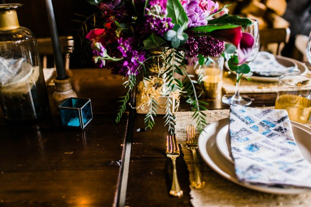 Portland Boho Wedding Set Up