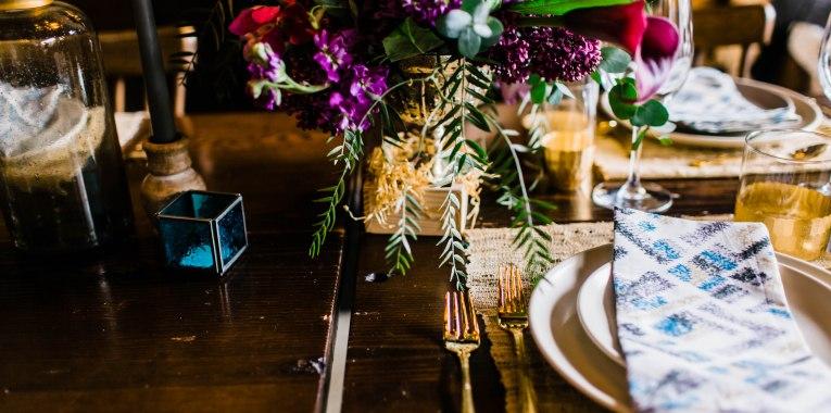 Portland Boho Wedding Set Up