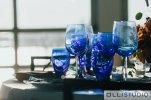 Blue Glassware at Chelsea Piers