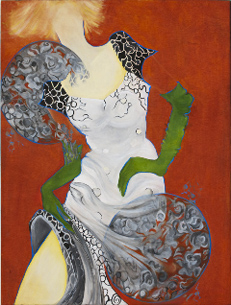 """""""Lady with Green Gloves"""" by Joan Goldfarb"""