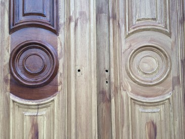 Detail: outer front doors
