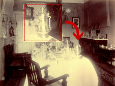 One of the most striking missing pieces of the Campbell House collection is this bejeweled Russian tankard, pictured here in the Cambridge home of James Campbell during his years at Harvard. After his death in 1890, the tankard remained with his brothers at the Campbell House. It was sold at the auction of the house's contents in 1941.