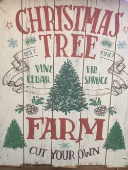 Large Christmas Tree Farm Sign