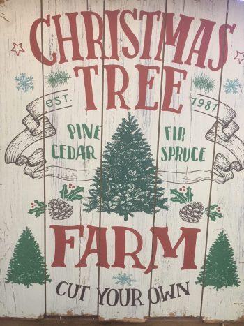 Large Christmas Tree Farm Sign