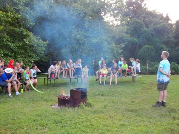 Thursday evening camp fire