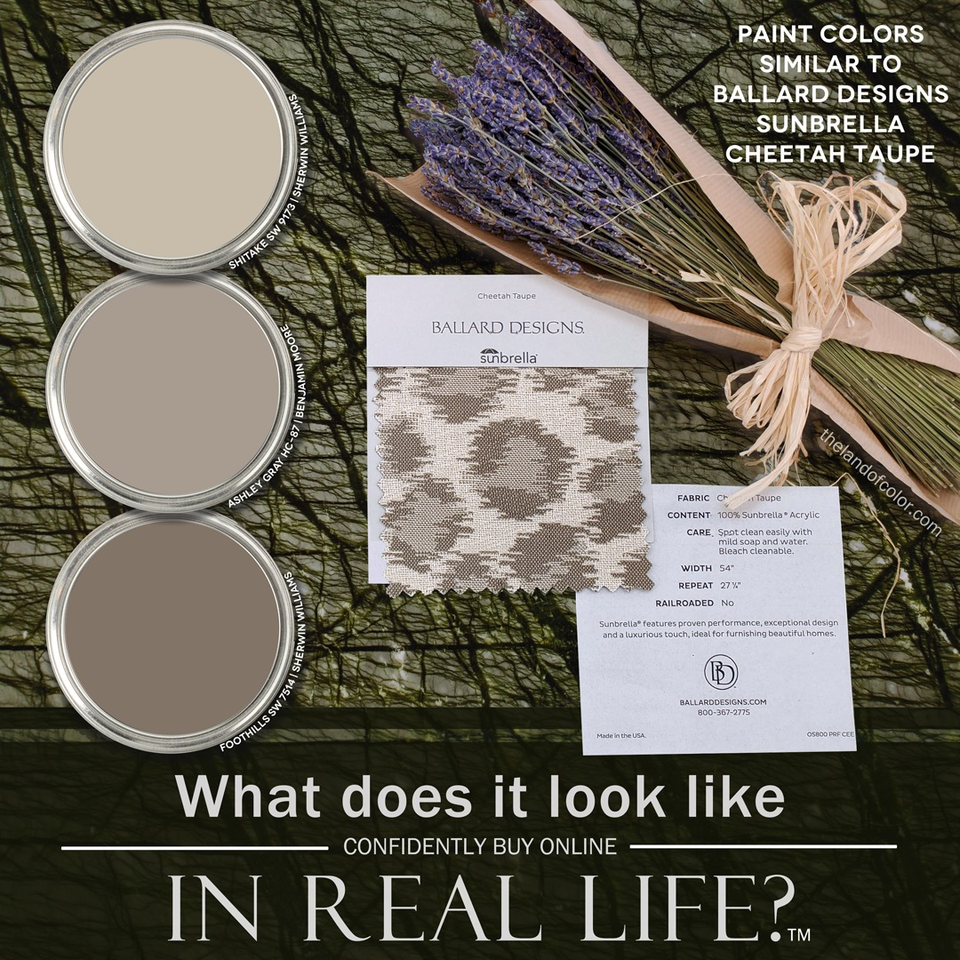 Ballard Cheetah Taupe Fabric