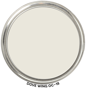 Dove Wing OC-18 by Benjamin Moore Paint Blob