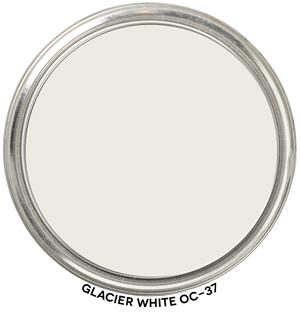 Glacier White OC-37 by Benjamin Moore Paint Blob