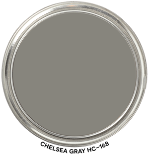Chelsea Gray HC-168 by Benjamin Moore Paint Blob