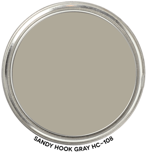 Sandy Hook Gray HC-108 by Benjamin Moore Paint Blob