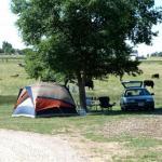 Tent camping at Falcon Meadow RV Campground near Colorado Springs