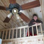 A peek inside a loft cabin