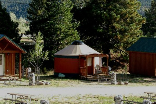 Yurt at Arrowhead Point Campground & Cabins (Buena Vista CO)
