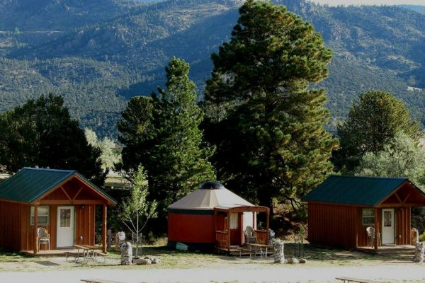 Cabins and yurts are some examples of other lodging options available at many Colorado campgrounds and RV parks