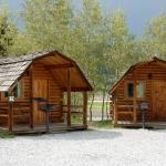 Look at these cute cabins in Base Camp at Golden Gate Canyon