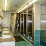 Very clean showers and bathrooms at Base Camp at Golden Gate Canyon near Black Hawk Colorado