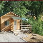 Creekside one-room cabin; sleeps up to 4 at Cedar Creek RV Park (Montrose CO)