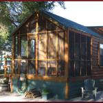 Deluxe cabin; one king bedroom plus sleeping loft; sleeps up to 6 at Cedar Creek RV Park (Montrose CO)