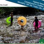 Kids love playing in the creek at Chalk Creek RV Park & Campground near Buena Vista Colorado!