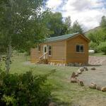 Our 2-bedroom cabin sleeps 9 in quiet comfort at Gunnison Lakeside RV Park and Cabins in Colorado