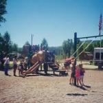 Playground for the little campers at Steamboat Springs KOA
