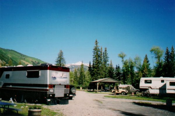 Room for RV's, tents and cabins at Woodlake Park in Lake City