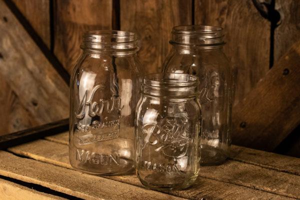 #8 Assorted Glass Mason Jars