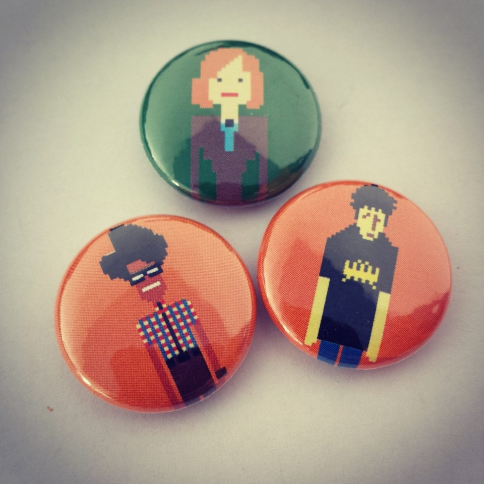 IT Crowd Badges from Campdave Badges