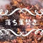 心がほっこりする落ち葉焚き