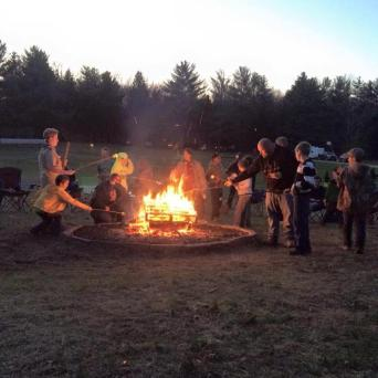Campfires throughout the race course.