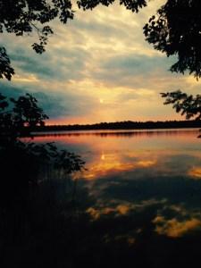 sunrise on Gurd Lake