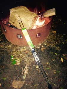 My NEW Coleman roasting stick purchased at the camp store, mine burned up in the fire Friday night accidentally :(