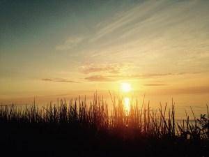 Beautiful sunrise on Lake Erie