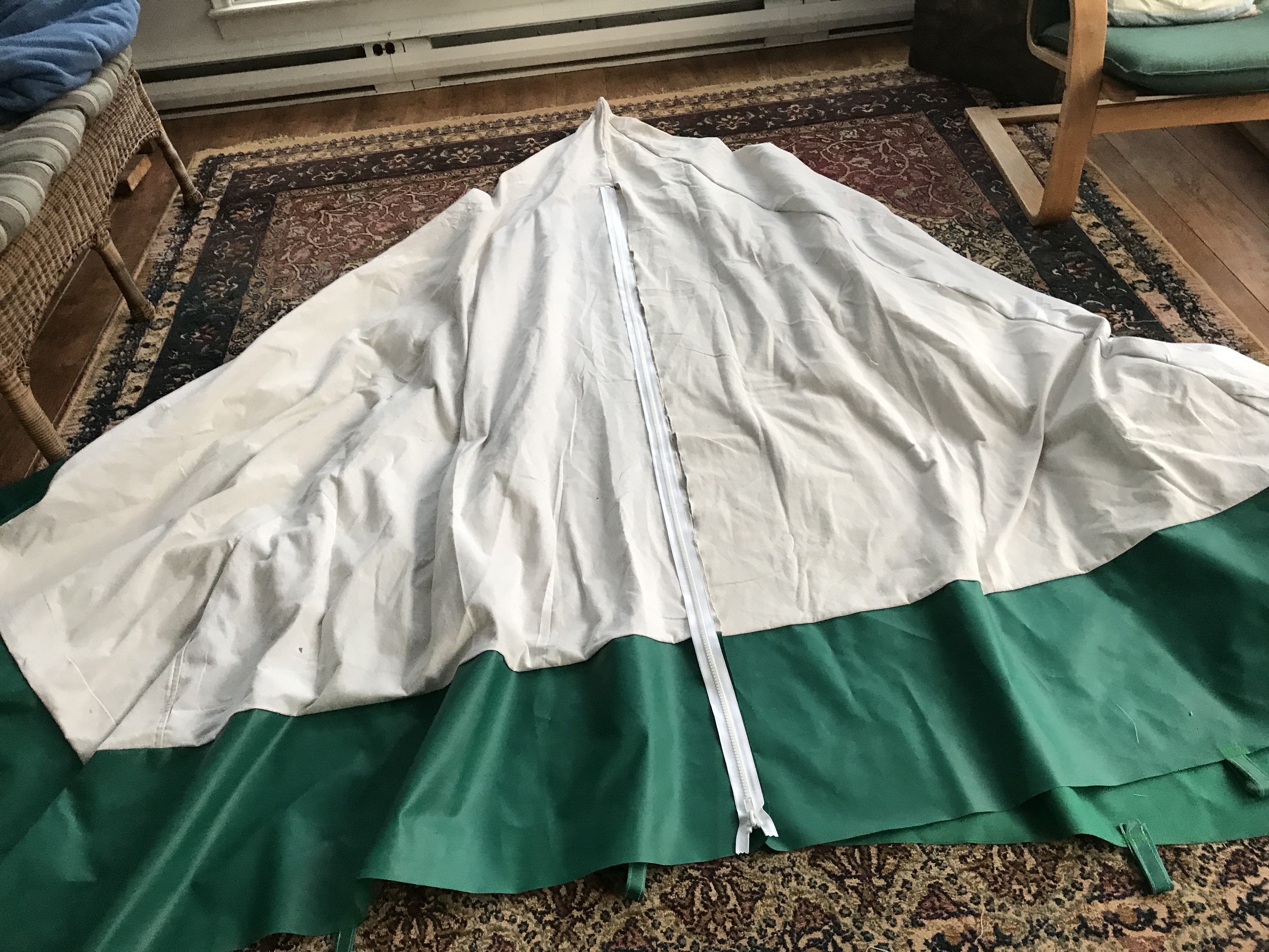 The zipper is six feet long and made for canvas projects. It is heavy duty as they call it and is able to be used on either side of the tent. & How To Make a Hot Tent Camper Christina Style u2013 Part 2 u2013 Zipper ...