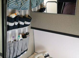 Utensilientasche für das Wohnmobil Bad