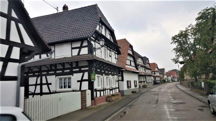 Wohnobilfahrt durch das Elsass, Fachwerkhäuser