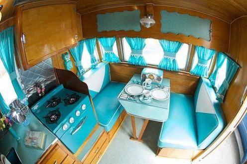 Vintage Camper Interior 33