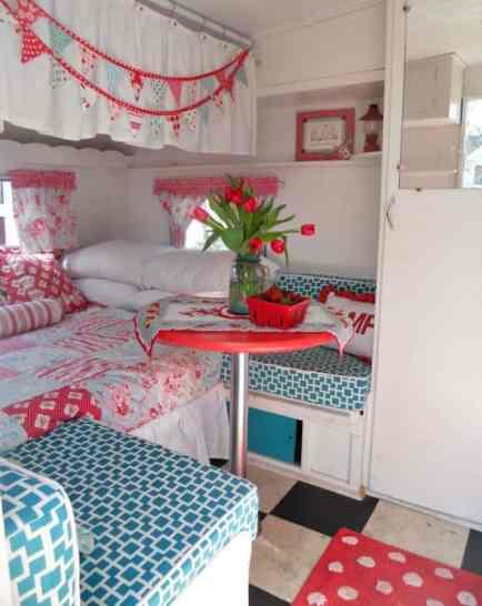 Vintage Camper Interior 45