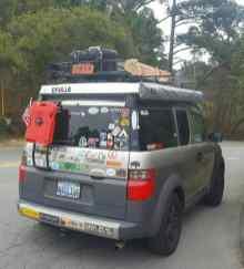 Honda Element Camping 26