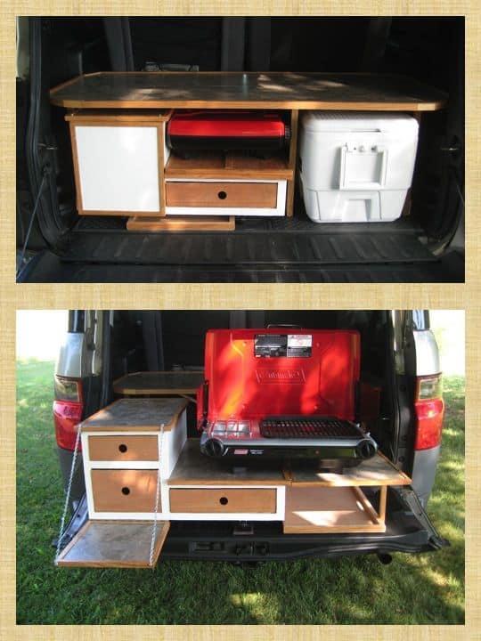 Honda Element Camping 38