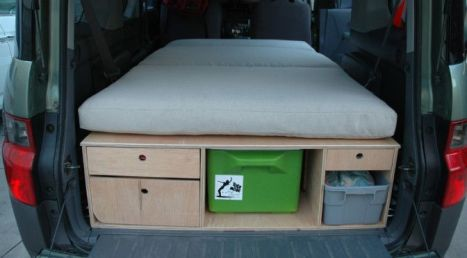 Honda Element Camping 49