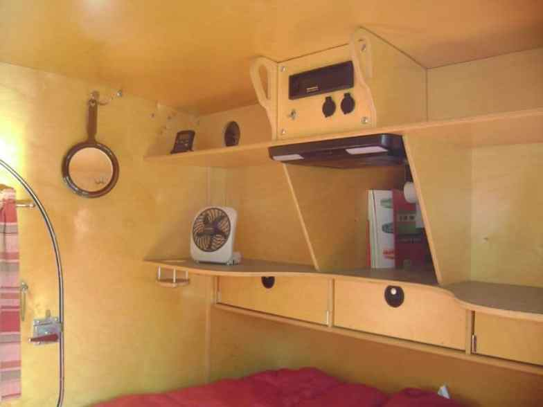 Teardrop Trailer Interior 1