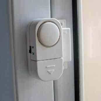 Motorhome With Alarm System Fitted On Window
