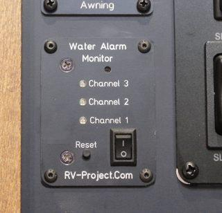 Motorhome With Water Alarm System