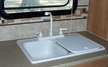 RV sink with cover