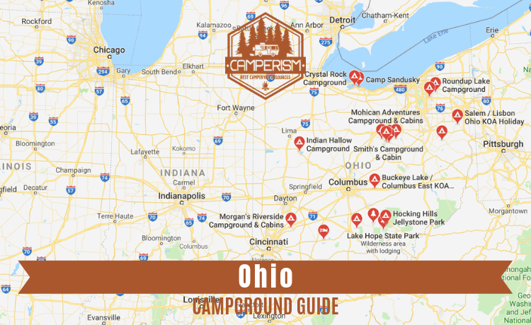 campgrounds in Ohio with cabins