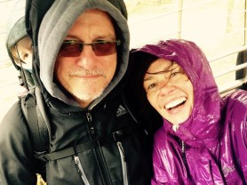 Selbst in der Gondel regnet's!